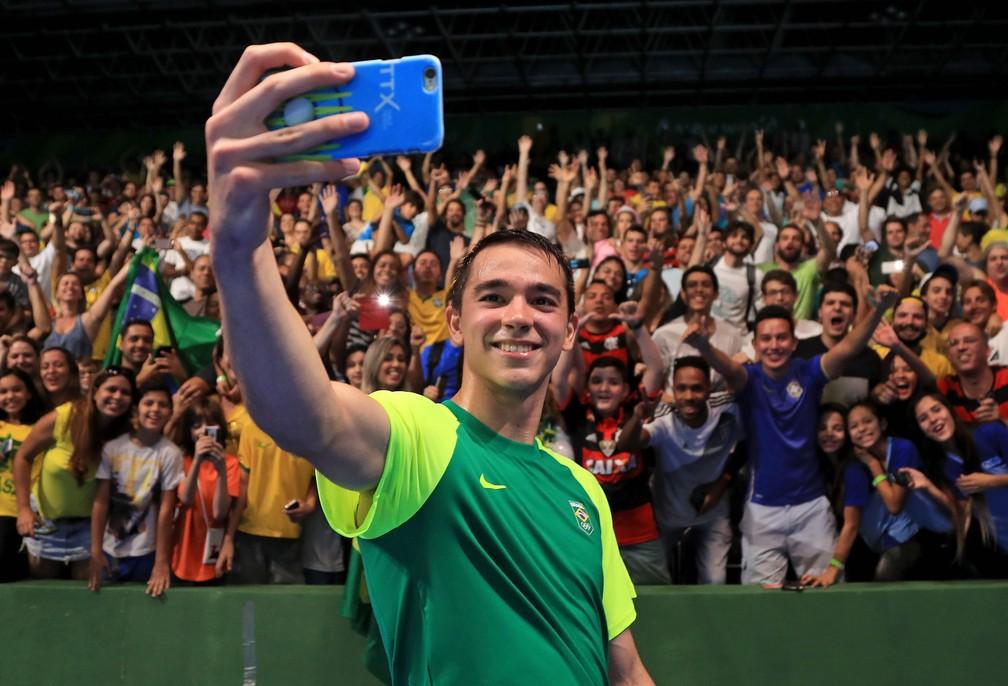 Hugo Calderano durante a Rio 2016 (Foto: Agência Getty Images)