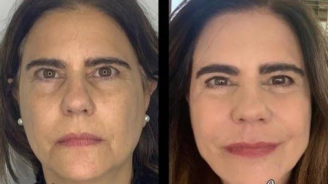 Antes e depois de Mayara Magri (Foto: Reprodução)