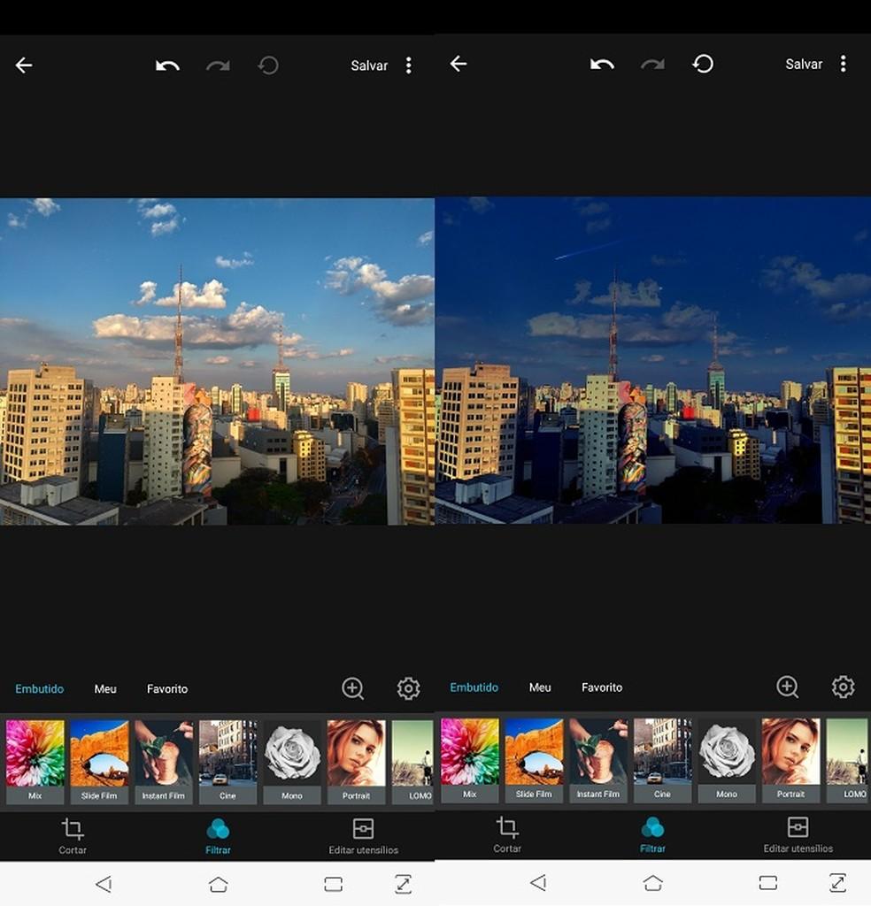 No MIX, é possível transformar completamente uma foto em poucos passos — Foto: Fernando Telles/TechTudo