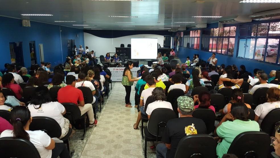 Dia Nacional da Luta da Pessoa com Deficiência em Ji-Paraná, RO (Foto: Pâmela Fernandes/G1)