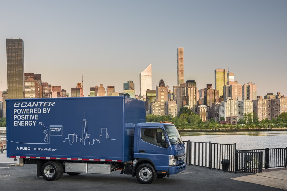 Caminhão elétrico da Daimler, dona da Mercedes-Benz (Foto: Divulgação)