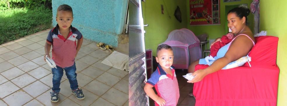 O pequeno John entregou a ajuda  (Foto: Ana Clara Marinho/TV Globo )