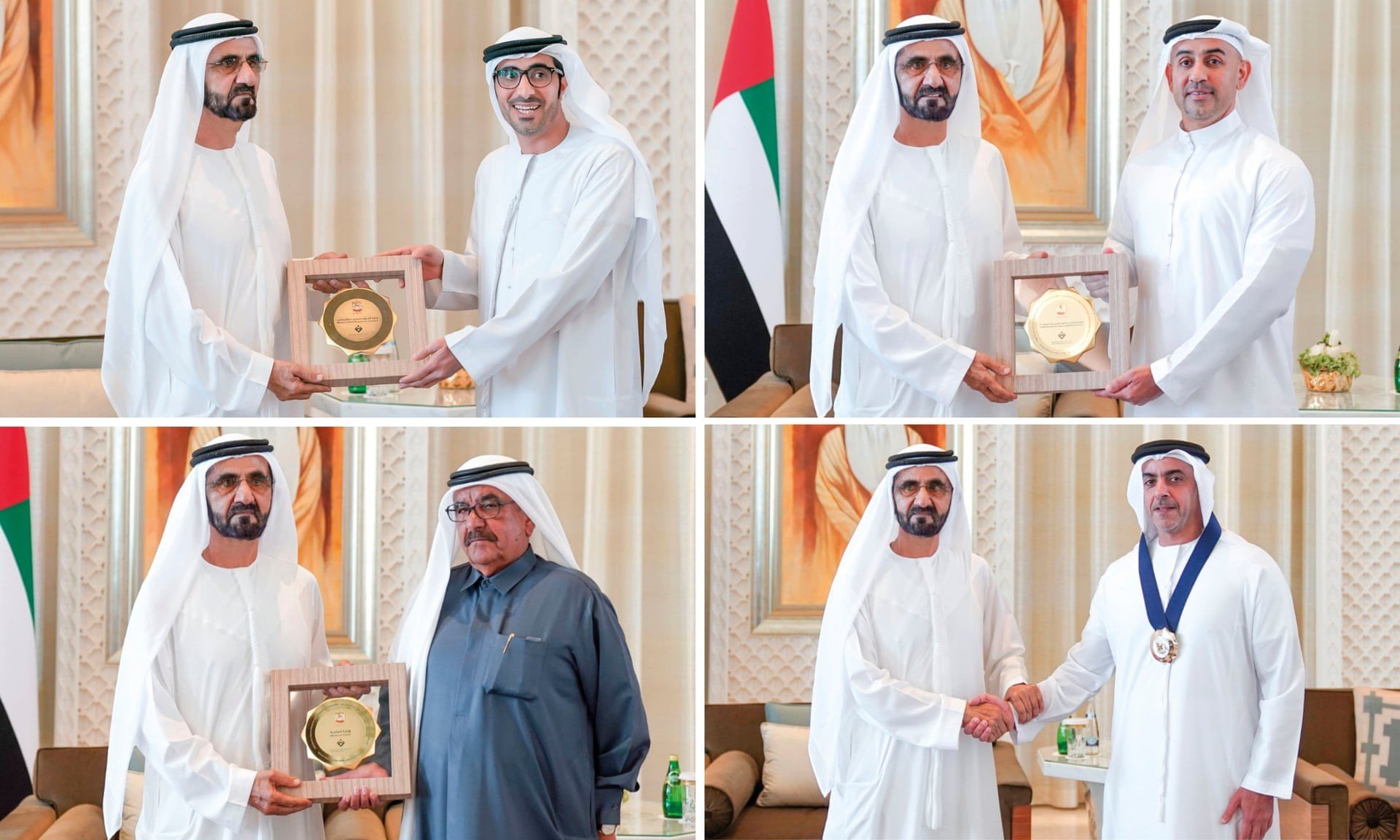 O sheik Mohammed bin Rashid al-Maktoum concede prêmios (Foto: Divulgação)