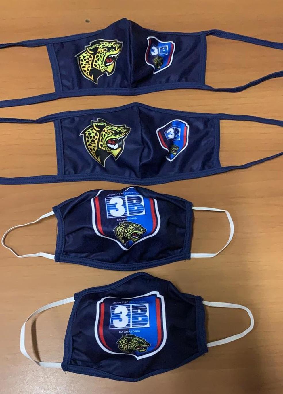 3B confeccionou 500 máscaras personalizadas para a comunidade — Foto: Divulgação/3B