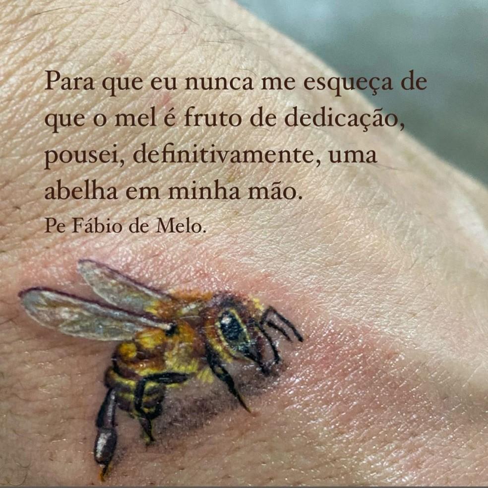 Padre Fábio de Melo compartilha nova tatuagem — Foto: Reprodução/Instagram