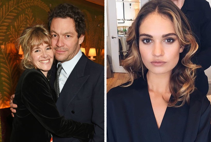 Catherine Fitzgerald, Dominic West e Lily James (Foto: Getty Images ; Instagram)