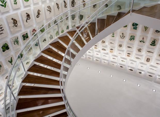 Escada do Itaú Cultural, em São Paulo (Foto: Divulgação)