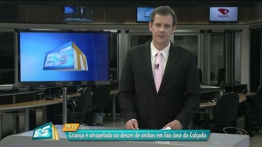 Criança é atropelada ao descer de ônibus em São José do Calçado, ES