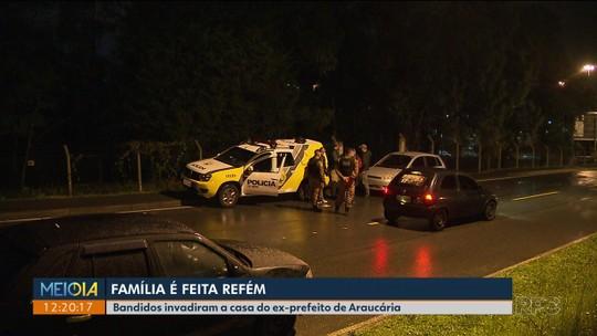 Ex-prefeito de Araucária é feito refém junto com familiares