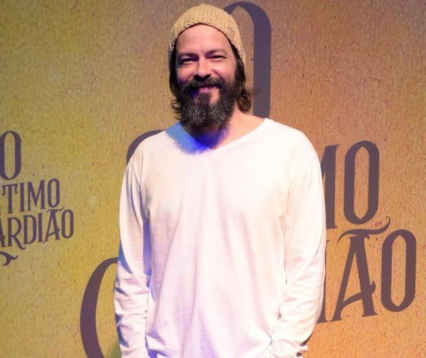 Heitor Martinez na coletiva de O Sétimo Guardião  (Foto: Divulgação/Globo)
