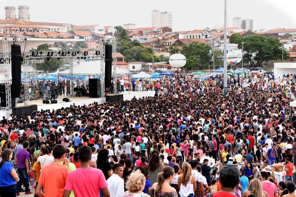 -    39;Ora São Luís  39; acontece a partir das 15h, na Praça Maria Aragão, em São Luís.  Foto: Divulgação/Prefeitura de São Luís