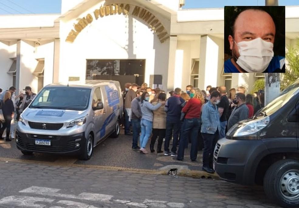 Corpo de médico morto em assalto foi enterrado em Tatuí no domingo (1º) — Foto: Arquivo Pessoal