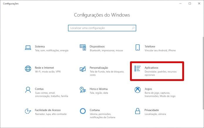 Acesse as configurações de aplicativos (Foto: Reprodução/Helito Beggiora)