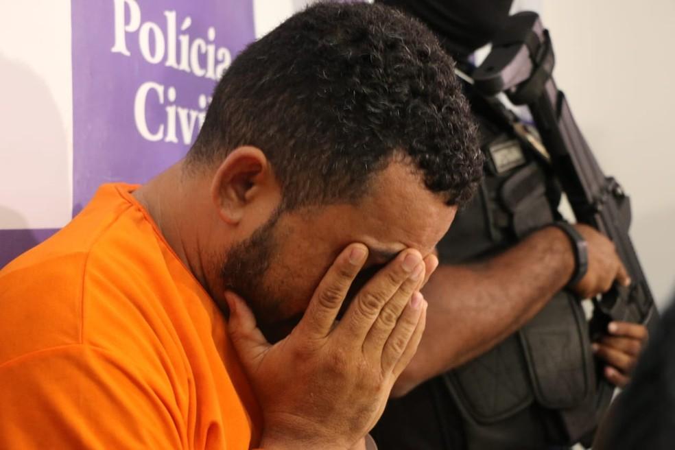 Luís Eduardo Santos Ribeiro foi terceiro a ser preso suspeito de participação na morte do subtenente Fortuna. — Foto: Alberto Maraux/ SSP-BA