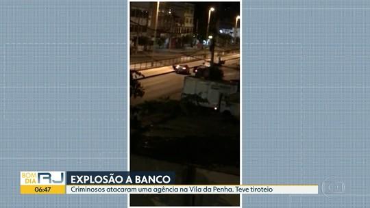 Bandidos explodem agência bancária na Vila da Penha, Zona Norte do Rio