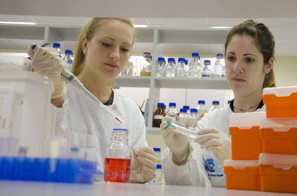 Stephanie Bath de Morais e Tatiana Brasil desenvolveram a 'asparaginase humana' (Foto: Fiocruz Paraná/Divulgação)