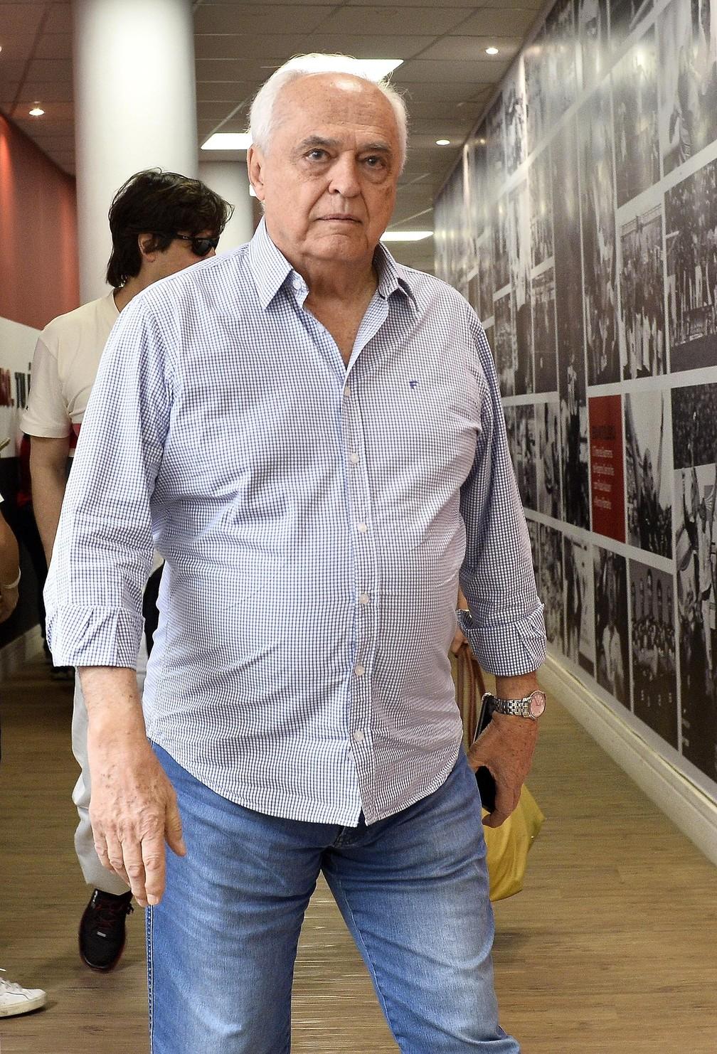 Presidente Leco, do São Paulo, e diretoria buscam maneiras de cortas gastos em meio à crise — Foto: Marcos Ribolli