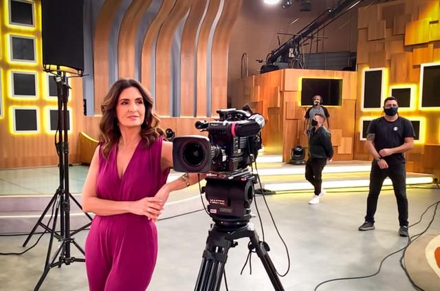 Fátima Bernardes no 'Encontro' (Foto: João Cotta/TV Globo)