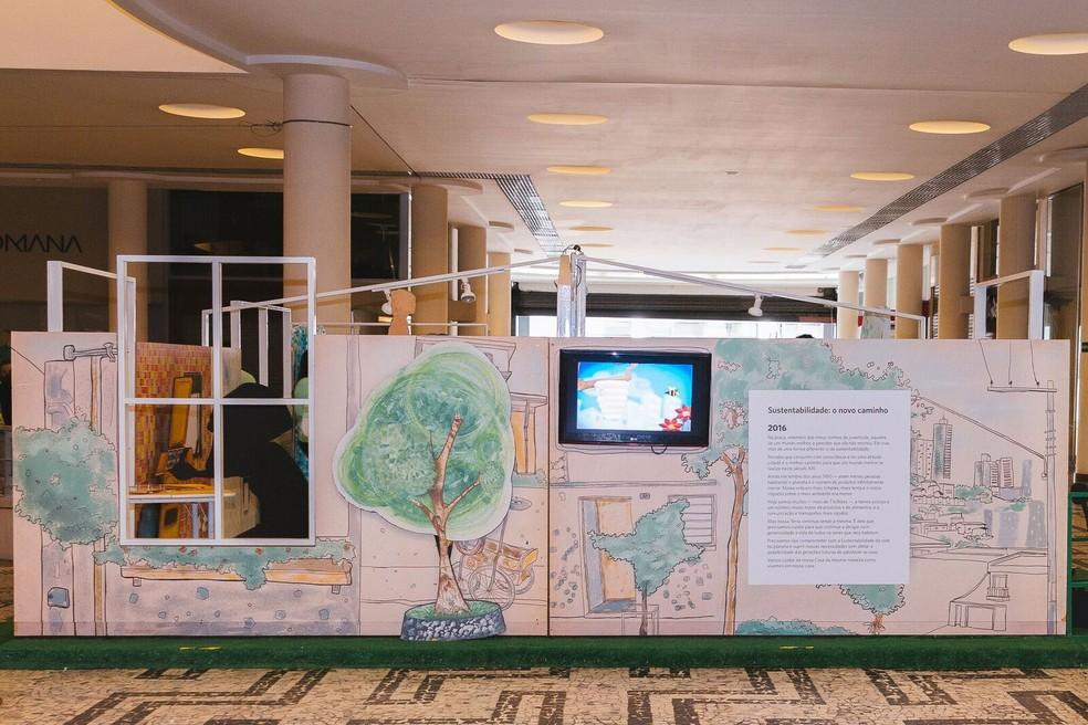 Exposição promove debate sobre consumo e sustentabilidade (Foto: Divulgação)