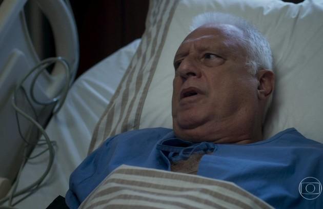 No sábado (12), Alberto terá uma melhora surpreendente ao reencontrar Paloma (Foto: TV Globo)