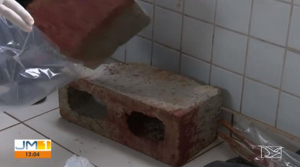 Os objetos usados no crime foram apreendidos para investigação. — Foto: Reprodução/ TV Mirante