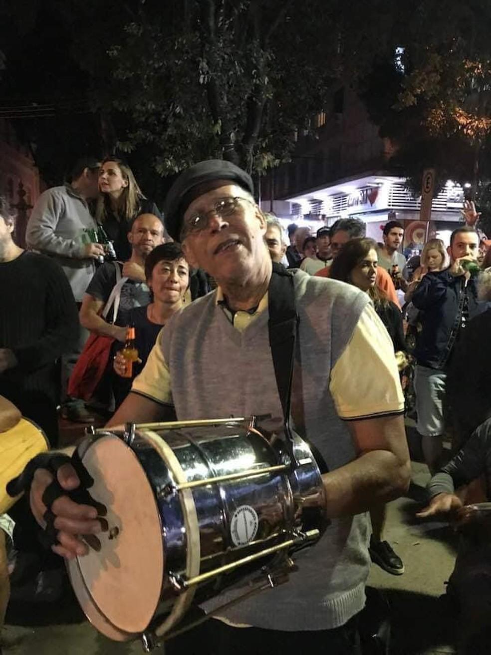 Edgard dos Santos Pereira era músico e tocava em blocos de carnaval do Rio — Foto: Reprodução/Redes sociais