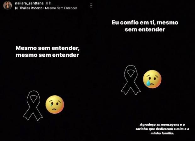 Naiara Santana lamenta a morte do pai (Foto: Reprodução/Instagram)