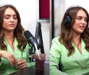 Rafa Kalimann chora durante o podcast | Reprodução
