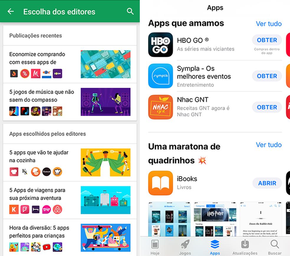 Escolha aplicativos selecionados pela curadoria da Google Play e App Store (Foto: Reprodução/Paulo Alves)