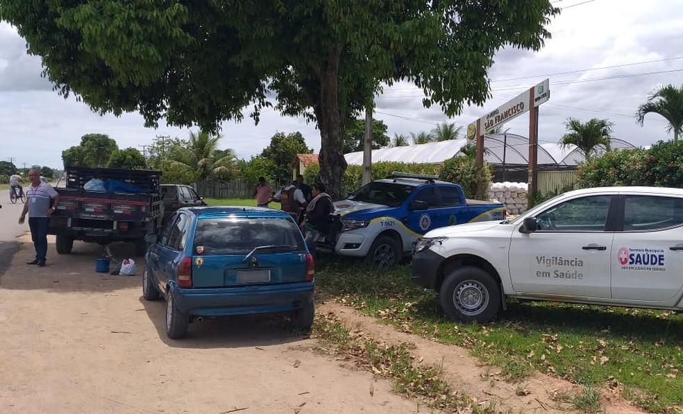 Vigilância sanitária foi acionada e constatou a irregularidade da carne — Foto: Divulgação/PRE