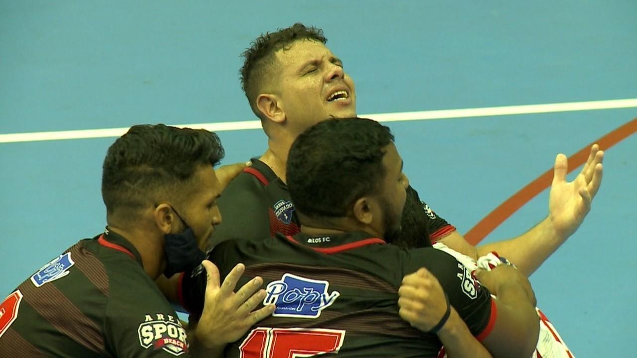 Título inédito do Belos tem choro em quadra após apito final do Piauiense de Futsal