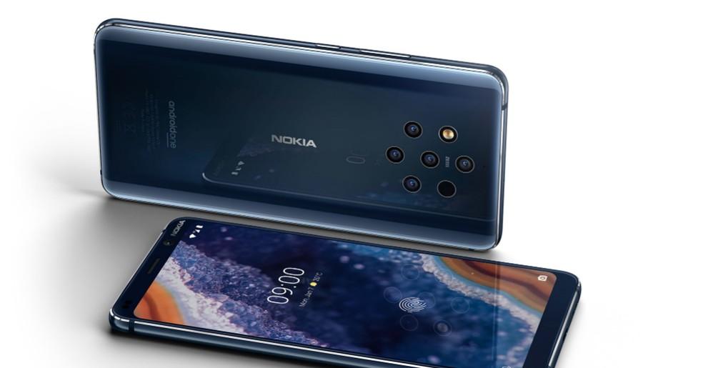 Nokia 9 PureView traz 5 câmeras e sistema Android 9 Pie — Foto: Divulgação/Nokia