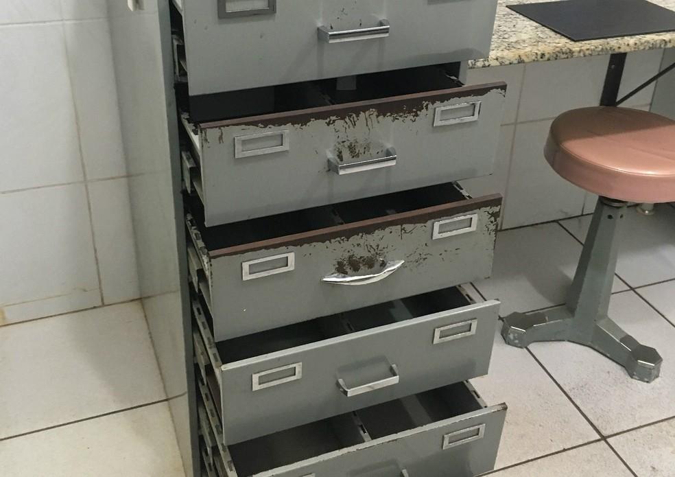Gaeco diz que armários estavam vazios na suposta clínica clandestina de Waldyr Villela  (Foto: Ministério Público/Divulgação)