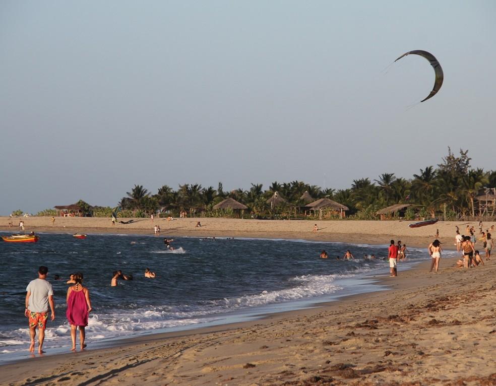 Barra Grande, no Litoral do Piauí, reserva um dos mais belos cenários do Piauí — Foto: Matias Legon