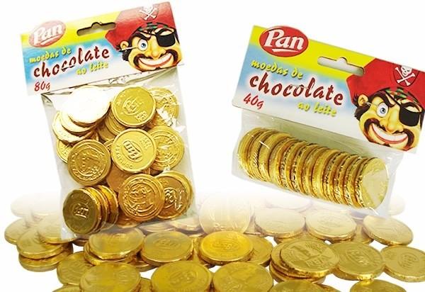 Moedas de chocolate (Foto: Reprodução)