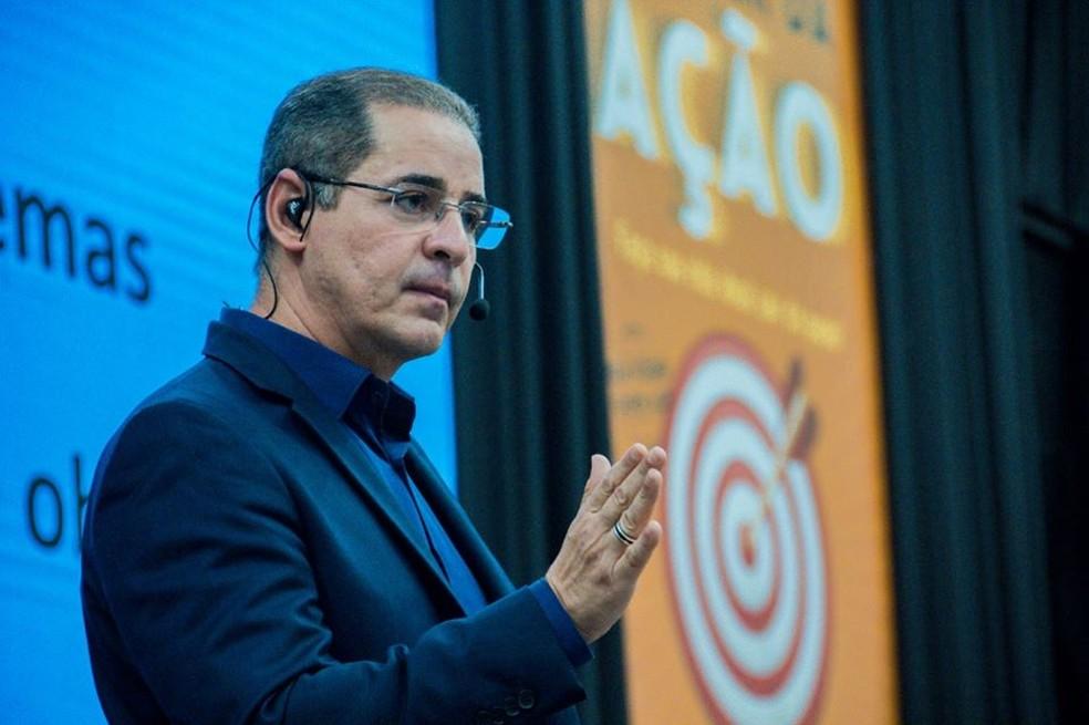 Paulo Vieira durante palestra em Fortaleza — Foto: Arquivo pessoal