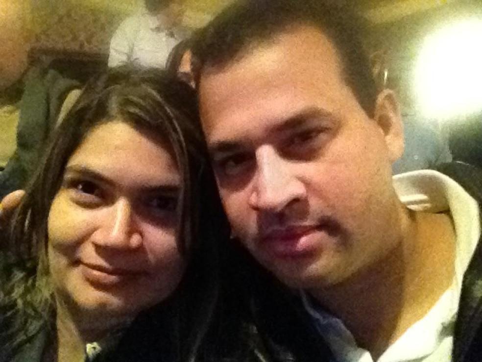 Carla Giannine e Marcos Nogueira durante viagem em novembro de 2012 — Foto: Facebook/Reprodução