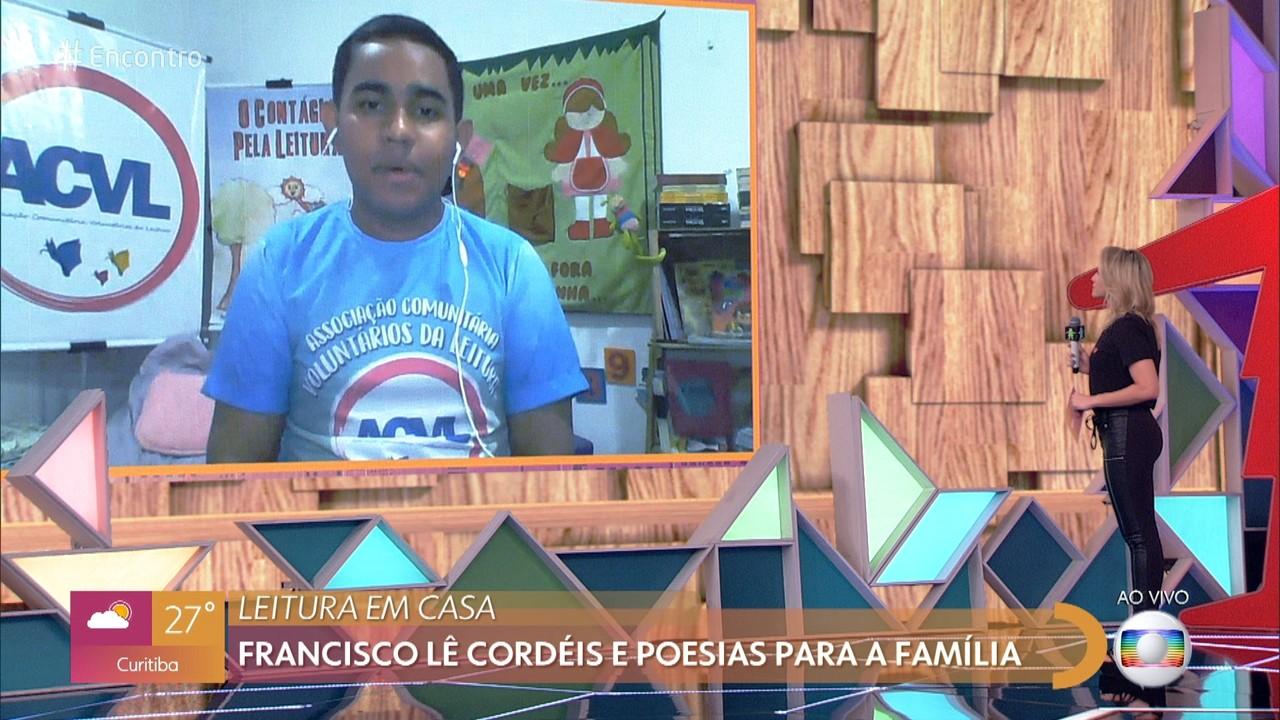 Francisco escreve cordéis desde pequeno