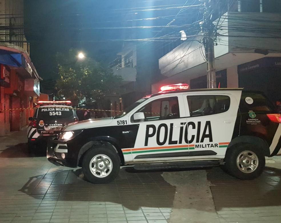 Travesti morta a tiros fazia programas no Centro de Fortaleza. — Foto: Rafaela Duarte/ SVM