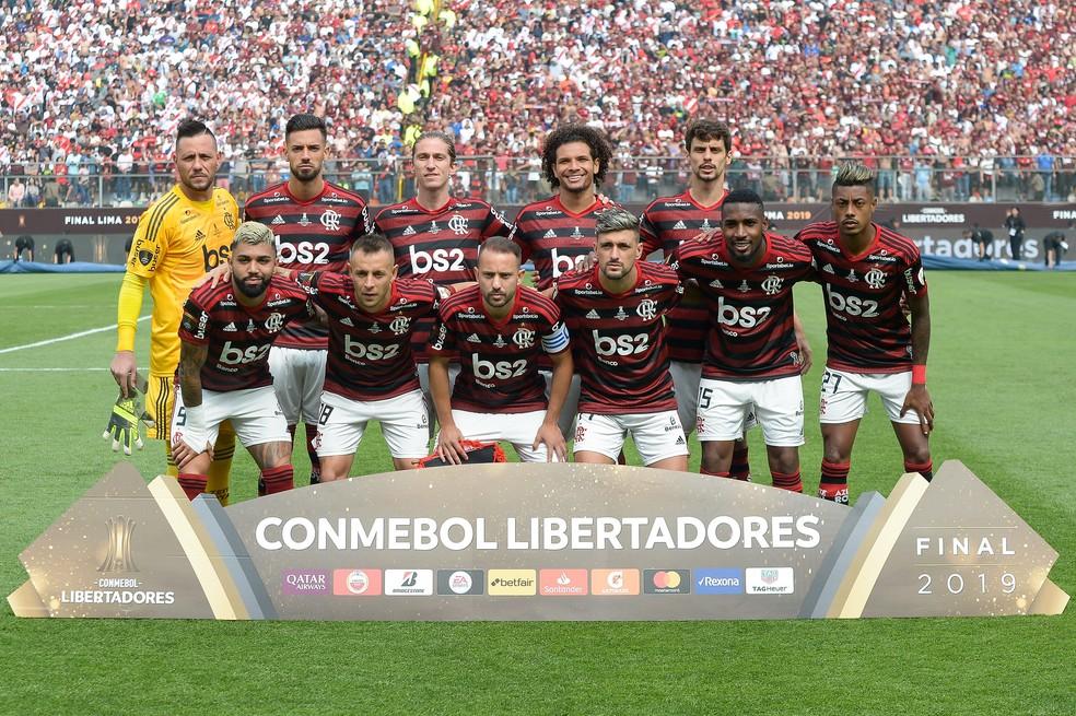Time do Flamengo da final da Libertadores 2019 — Foto: Alexandre Vidal/Flamengo