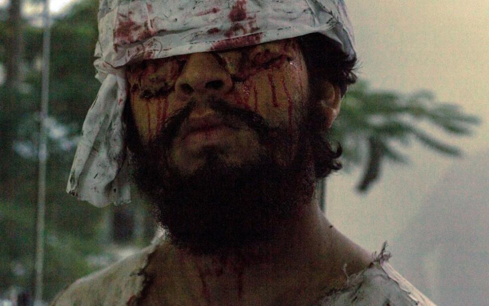 No filme 'Sentidos' vilão é cego e precisa usar a audição para tentar encontrar suas vítimas — Foto: Reprodução/Sentidos