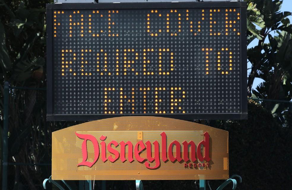 Centro comercial da Disney na Califórnia reabriu na última quinta-feira — Foto: Mario Tama/AFP