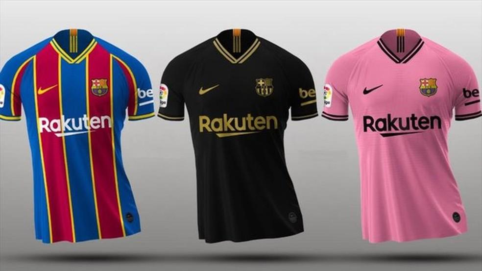 Uniformes do Barcelona para a temporada 2020/21 — Foto: Reprodução/Mundo Deportivo