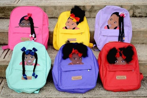 Resultado de imagem para Empreendedora cria mochilas para dar representatividade a meninas negras
