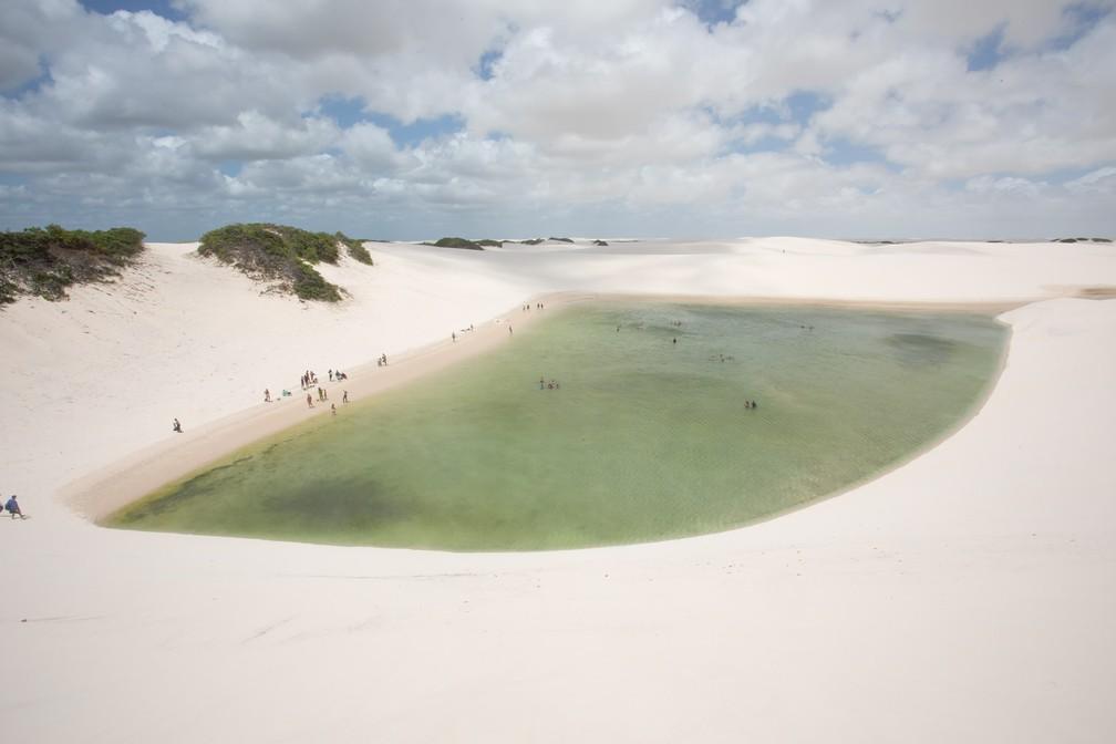 Lençóis Maranhenses a partir de Barreirinhas: lagoas de água clara ideais para banho — Foto: Celso Tavares/G1