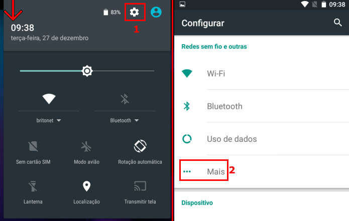 Acessando a opção Mais nas configurações do Android (Foto: Reprodução/Edivaldo Brito)