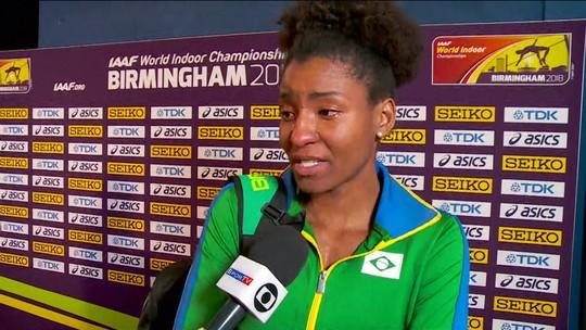 Após 14.00 metros no salto triplo, Núbia Soares se emociona com perda do treinador