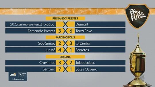 Goleada de Serrana e W.O. de Ibitiuva marcam rodada da Taça EPTV Ribeirão de Futsal