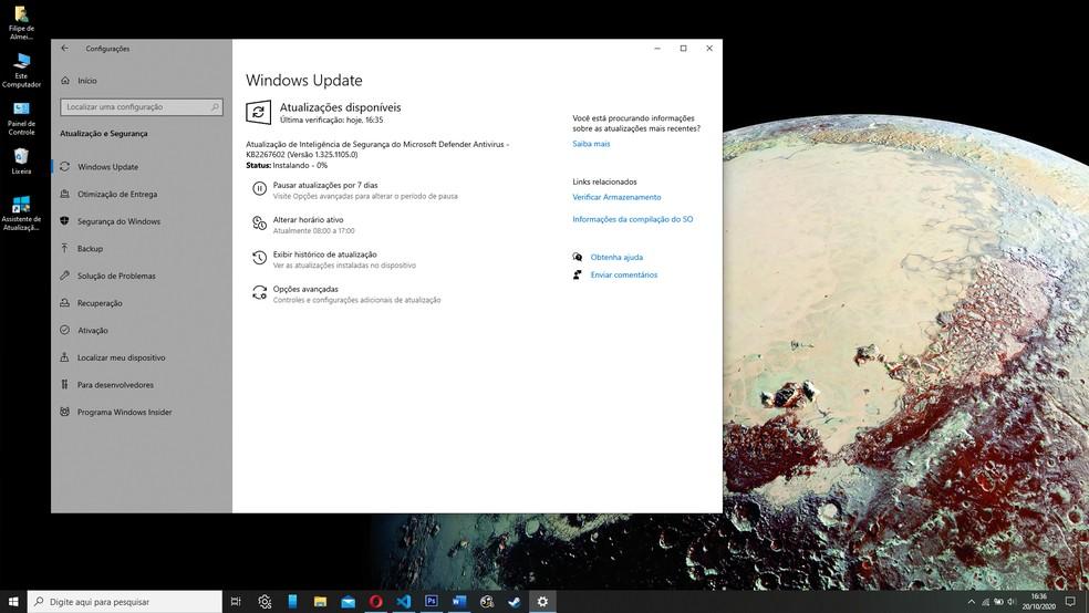 É possível que o Windows 10 não encontre a nova atualização de outubro — Foto: Reprodução/Filipe Garrett