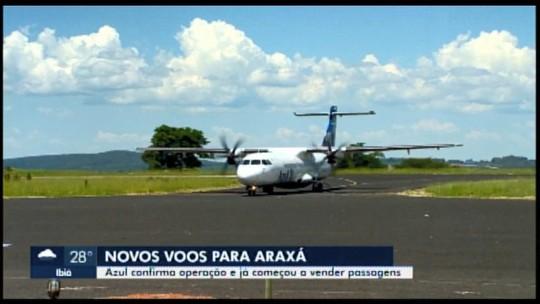 Azul anuncia novos voos de Araxá para Belo Horizonte a partir de fevereiro